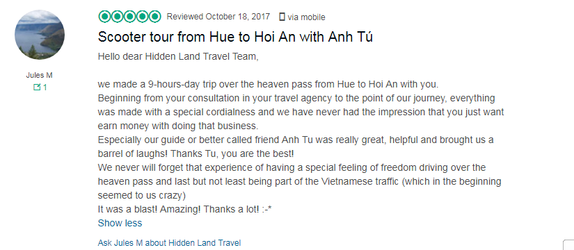 hue scooter rental vietnam