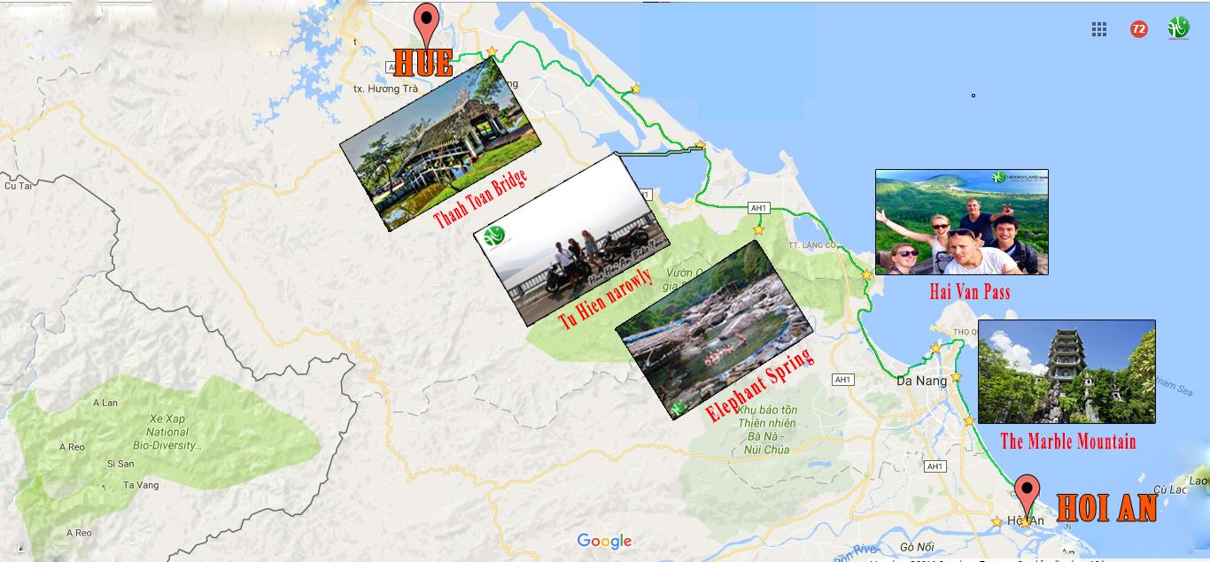 Hue to Da Nang motorbike trip